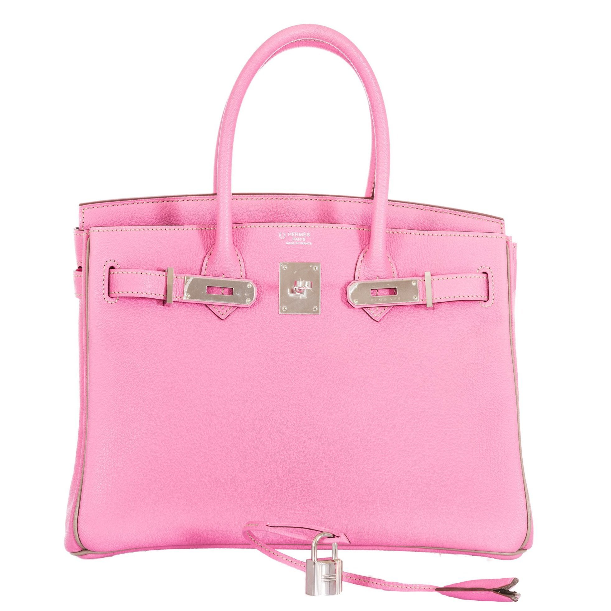 Hermes Birkin 30 HSS Bubblegum Pink And Gris Tourterelle Chevre