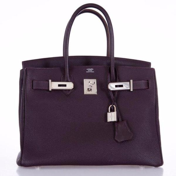 Hermes Birkin 30 Raisin Palladium Hardware