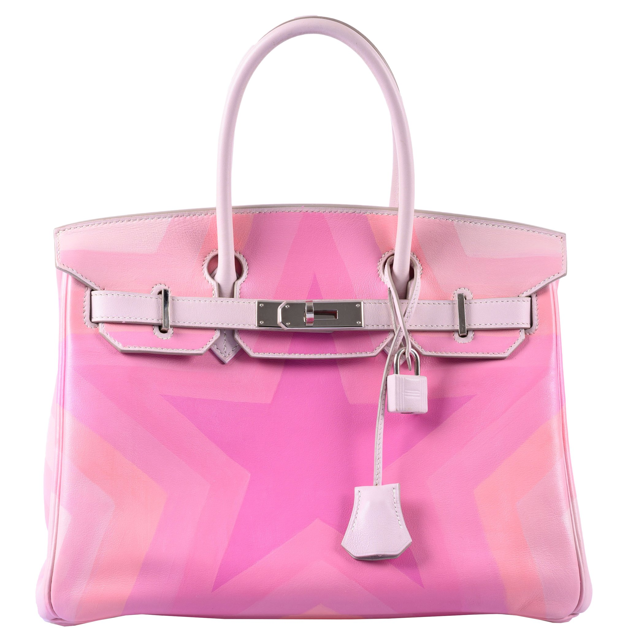Hermes Birkin 30 Pink Pulsar Rose Drageé Star Swift Palladium