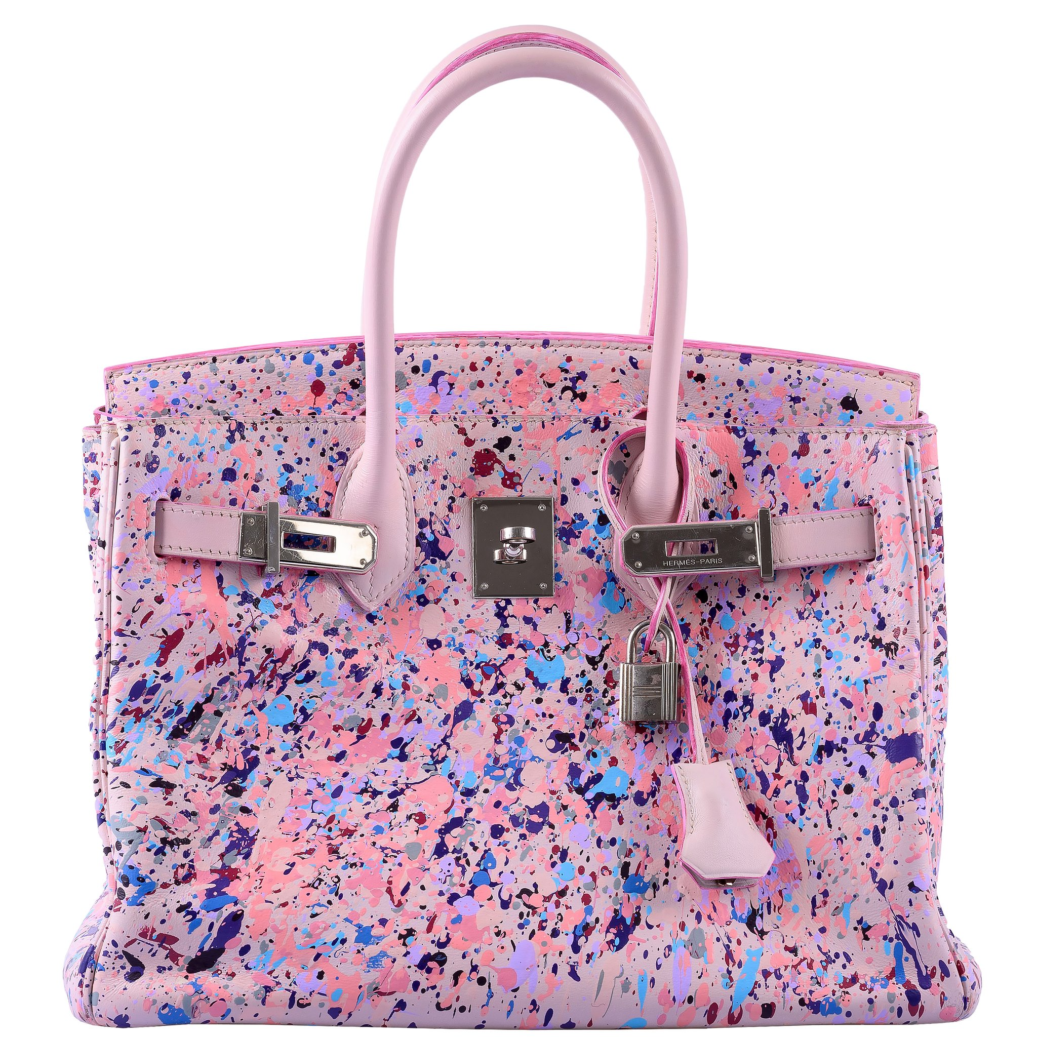 Hermes Birkin 30 Rosé Spray Rose Dragée Swift Leather Palladiu