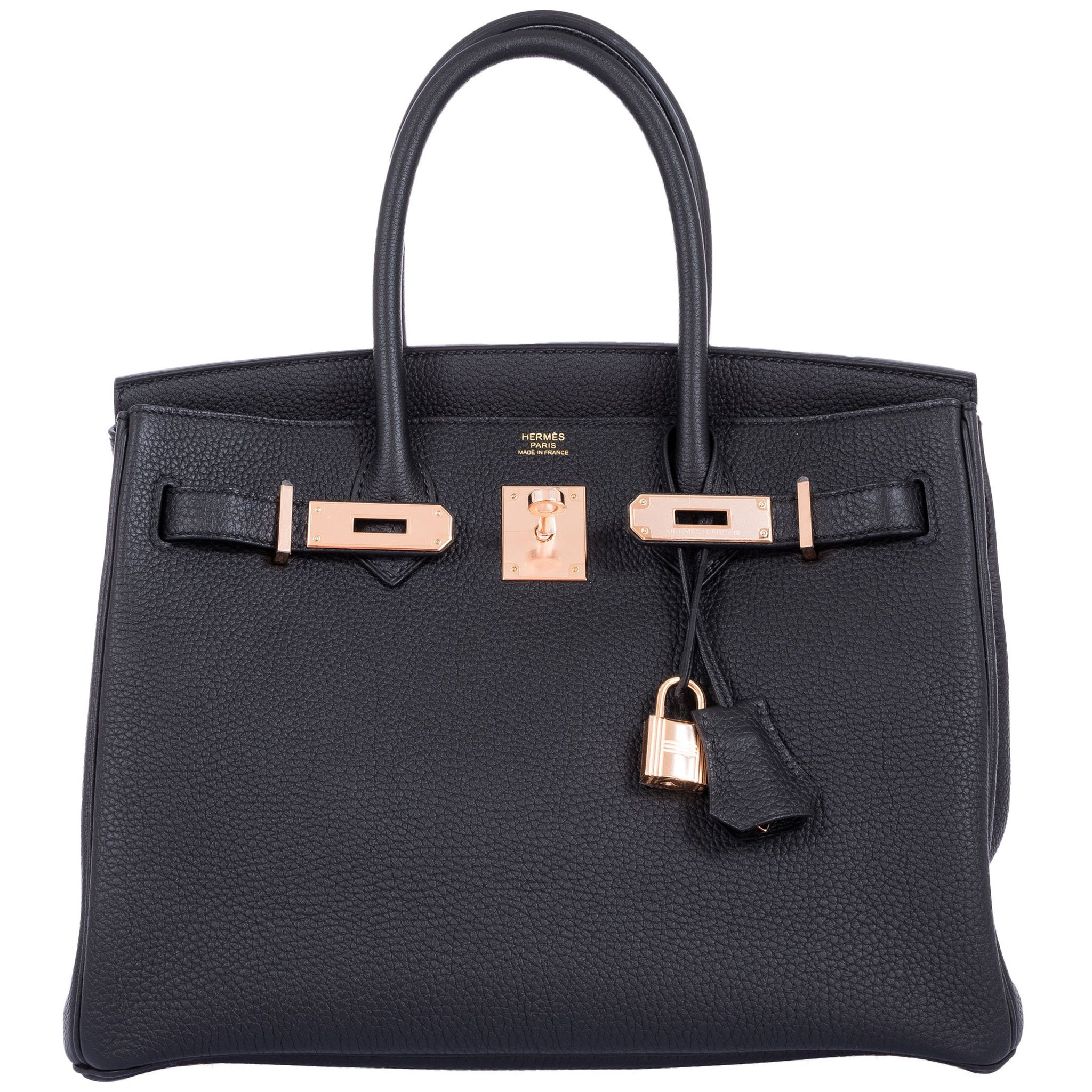 Hermes Birkin 30 Black Togo Rose Gold Hardware 2019
