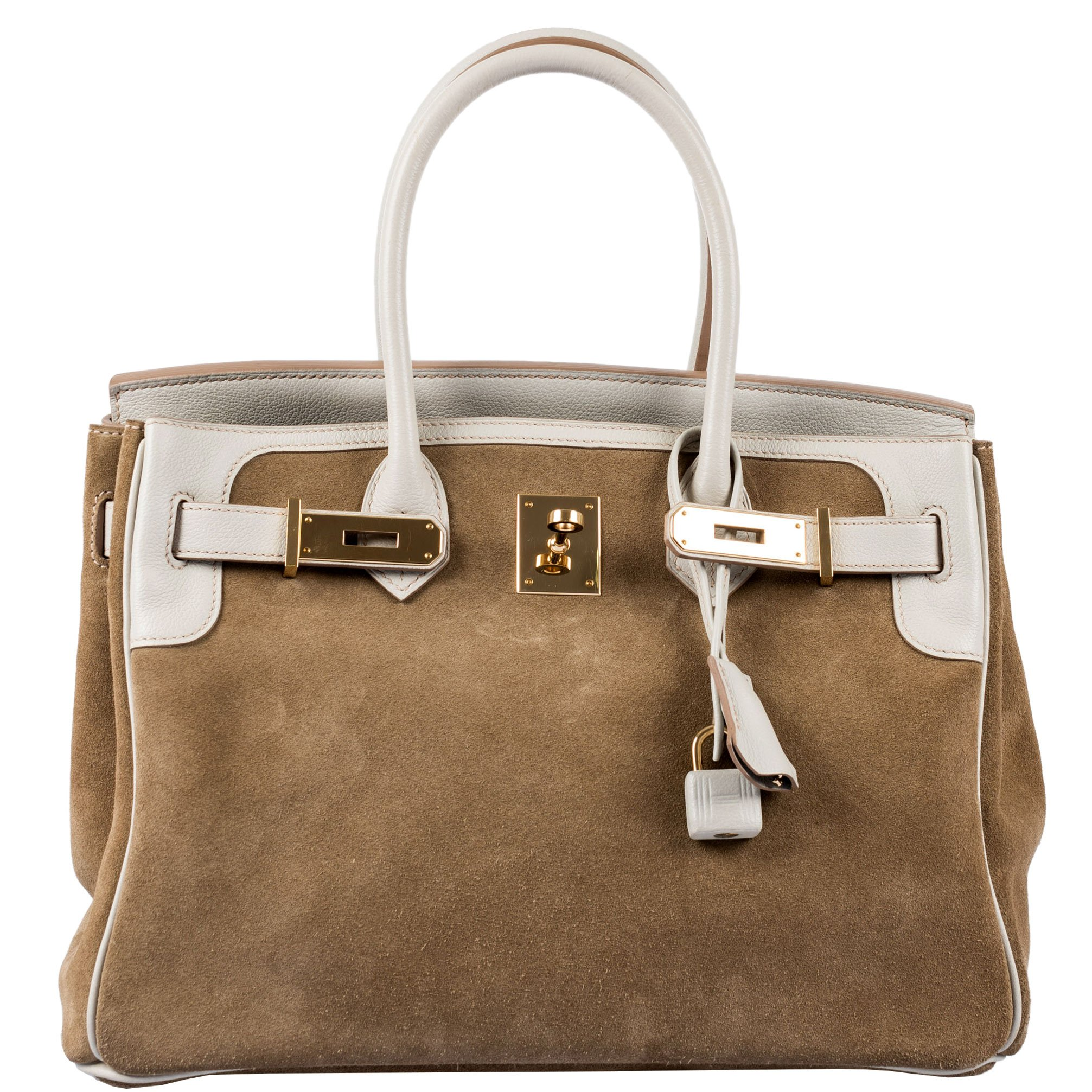 Hermes Birkin 30 Grizzly Gris Perle Swift & Suede Permabrass