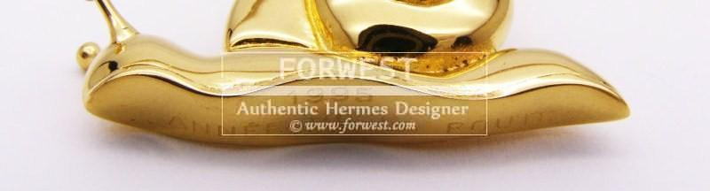 Authentic Hermes 1995 Snail Cadena Lock Charm