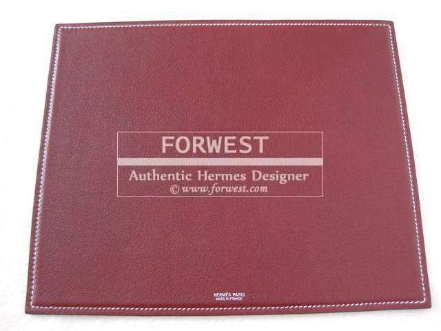 Authentic Hermes 2 Tone Mouse Pad Gulliver Leather