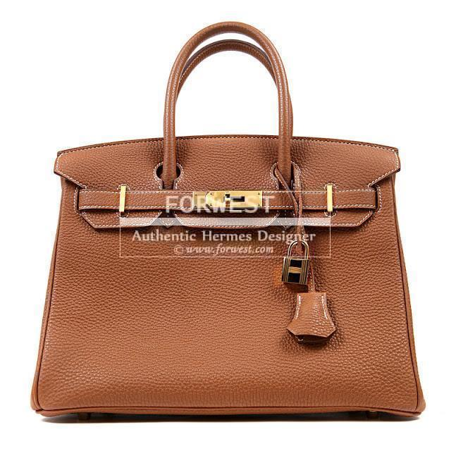 Authentic Hermes 30 Cm Gold Togo Birkin