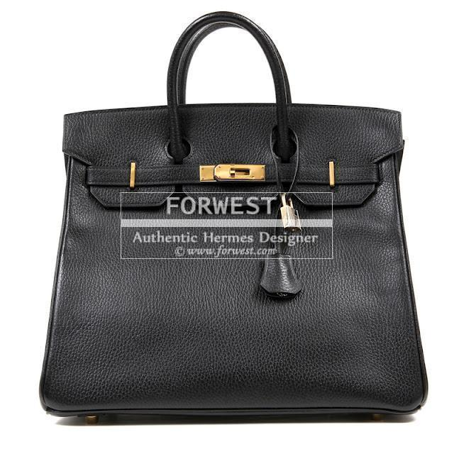 Authentic Hermes 32 Cm Black Ardennes Hac Birkin