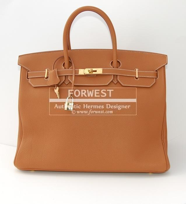 Authentic Hermes 40 Cm Birkin Gold G H W Togo