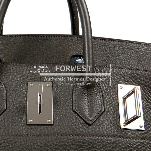 Authentic Hermes 50 Cm Olive Clemence Travel Birkin