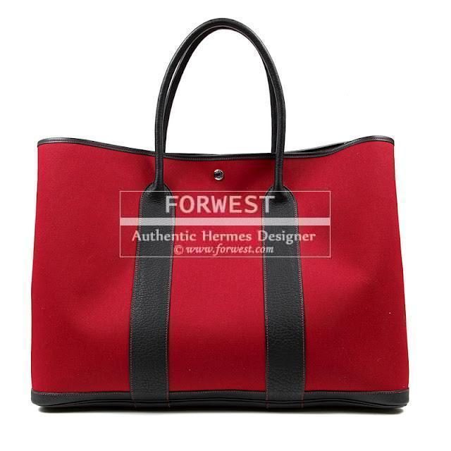 Authentic Hermes 50 Cm Red Garden Party Travel Tote