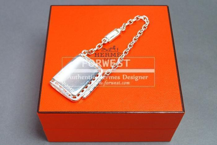 Authentic Hermes Agenda Note Cover Key Ring Bag Charm Silver 925