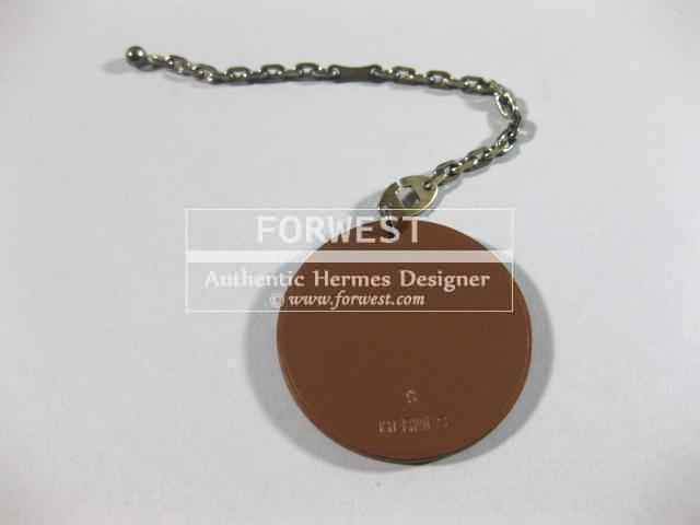 Authentic Hermes Beaver Leather Silver Key Chain
