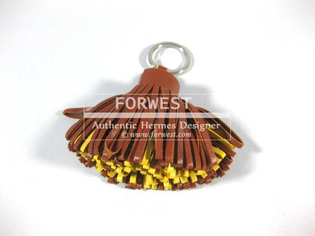 Authentic Hermes Bicolor Carmen Lambskin Key Holder