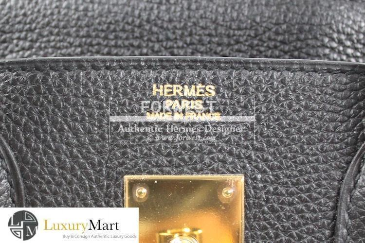 Authentic Hermes Birkin 30 Cm Black Togo Bag