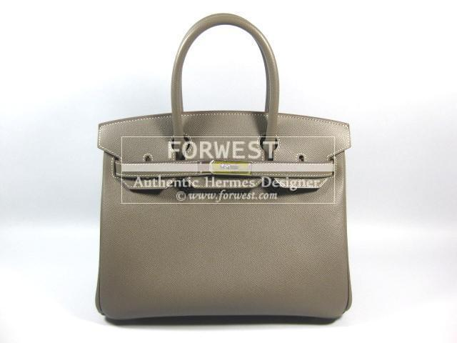 Authentic Hermes Birkin 30 Etain Candy Thalassa 2 Tone Purse Epsom