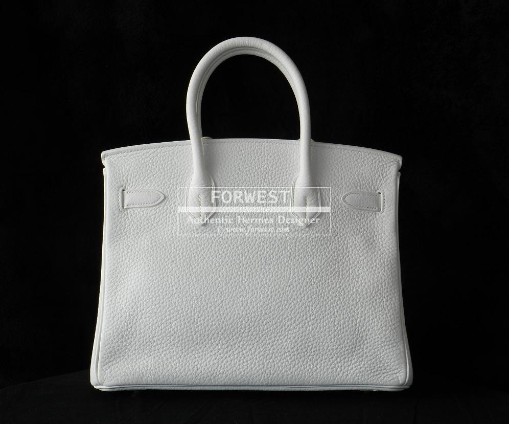 Authentic Hermes Birkin 30cm White Clemence Phw