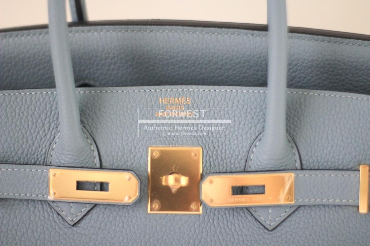 Authentic Hermes Birkin 35 Ciel Togo Ghw Excellent Condition
