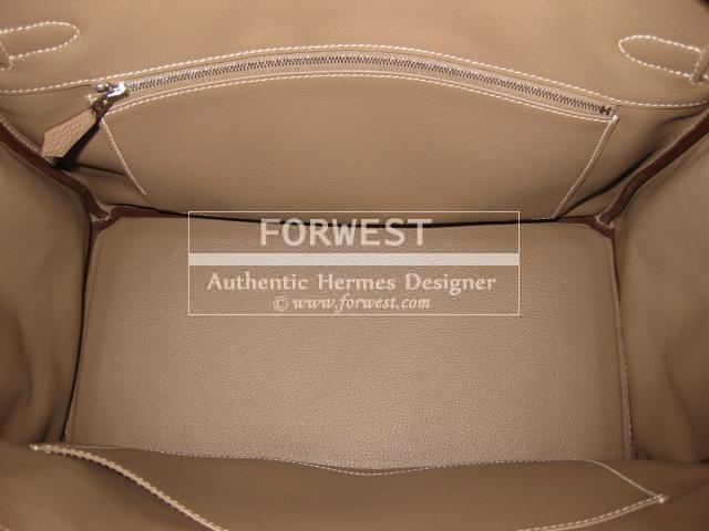 hermes handbags - Authentic Hermes Birkin 35 Togo Leather Etoupe Purse-$12995.0000