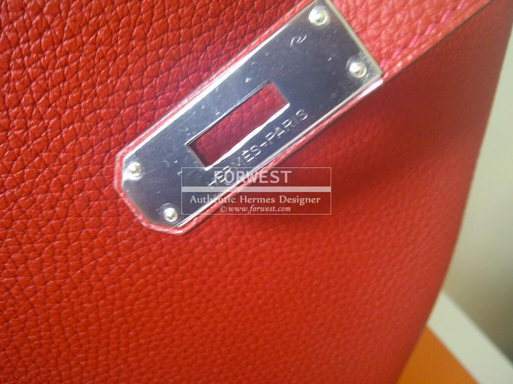 0493f471a2 ... gold hardware 46346 49844  coupon for authentic hermes birkin 35cm  geranium togo palladium hardware 00461 803c5