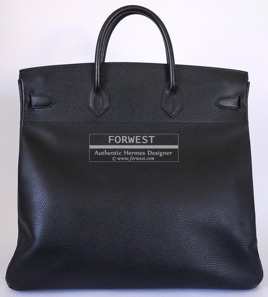 a1cfa18530a Authentic Hermes Black Ardennes Hac Birkin 45 Rare Excellent 1996- 9500.0000
