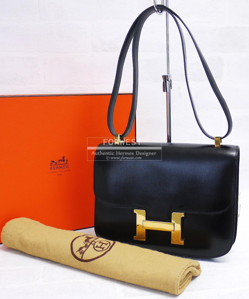 ... discount authentic hermes black box calf 23cm constance shoulder bag  mint f8b1d d4fa7 ... 02d70dacf0137
