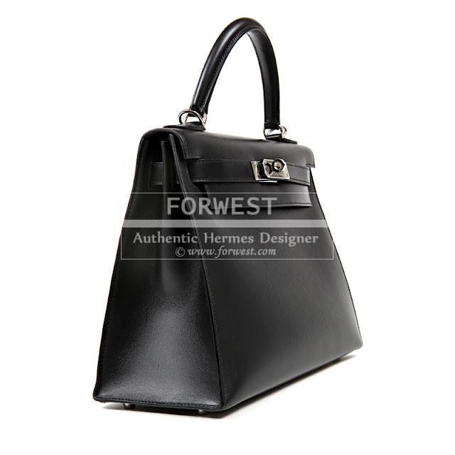 Authentic Hermes Black Box Calf 28 Cm Kelly