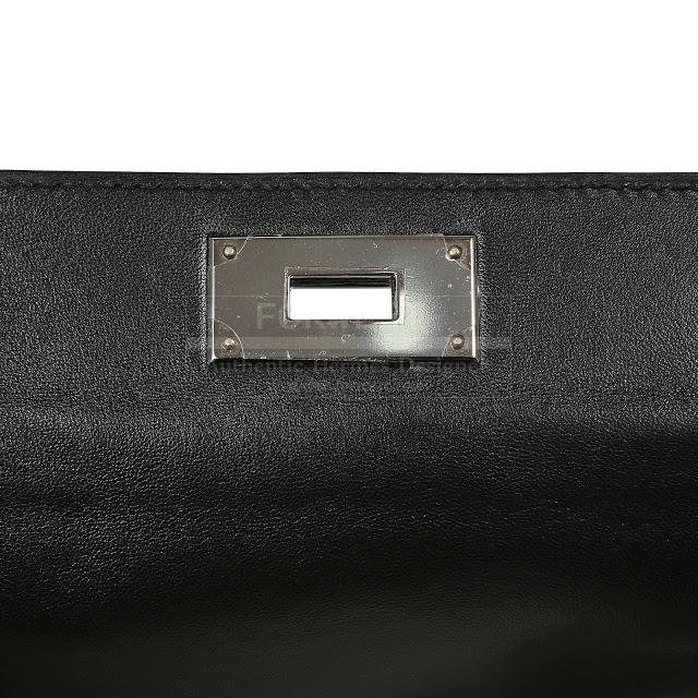 Authentic Hermes Black Crocodile 26 Cm Kelly Toolbox