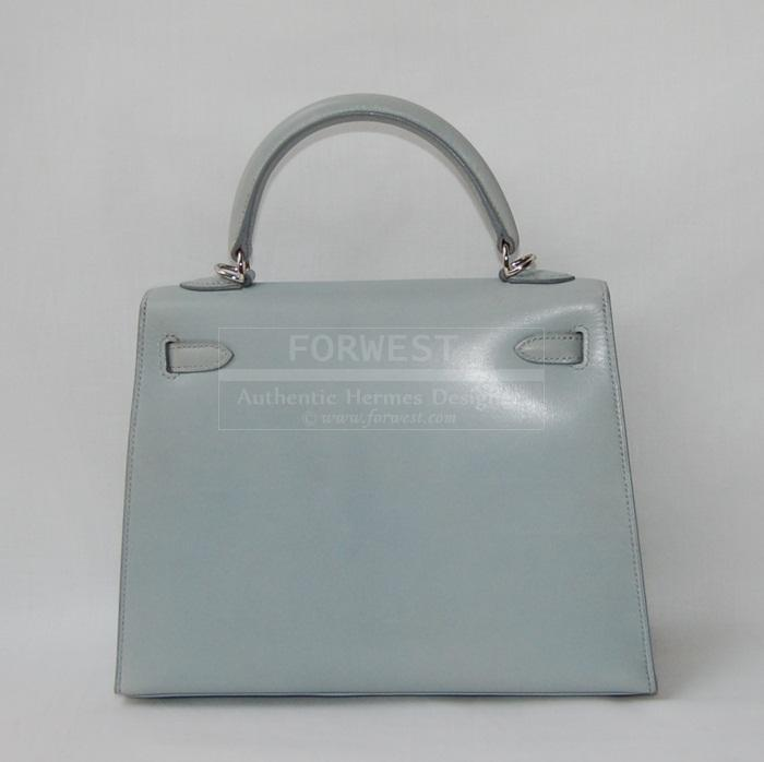 Authentic Hermes Bleu Arctic In Box Nepal Kelly 25 P H W Box