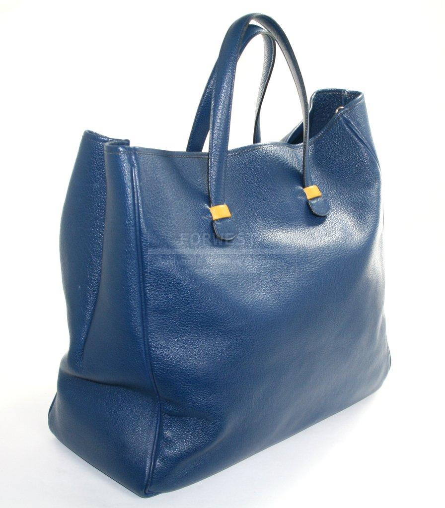 Authentic Hermes Blue Ardennes Tote