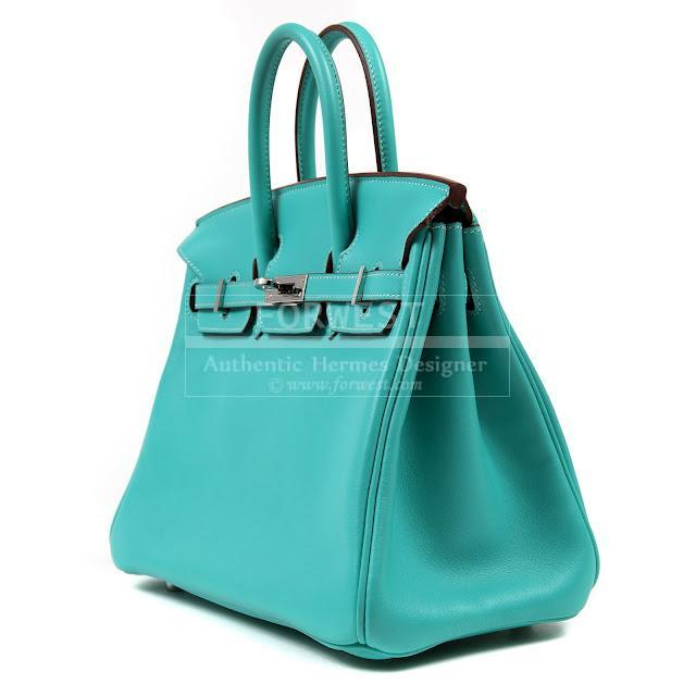 Authentic Hermes Blue Lagoon Swift Leather 25 Cm Birkin