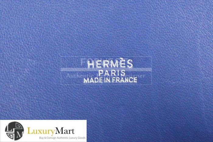 Authentic Hermes Brighton Blue Bolide Clemence Bag