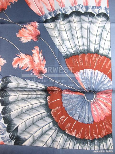 Authentic Hermes Carre Brazil Detail Silk Scarf