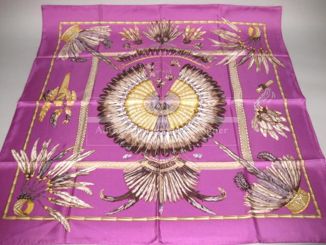 Authentic Hermes Carre Brazil Silk Scarf