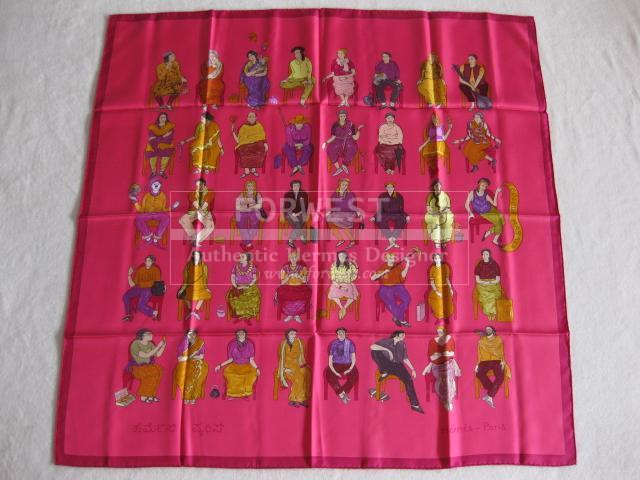 Authentic Hermes Carre Colour Masala Silk Scarf