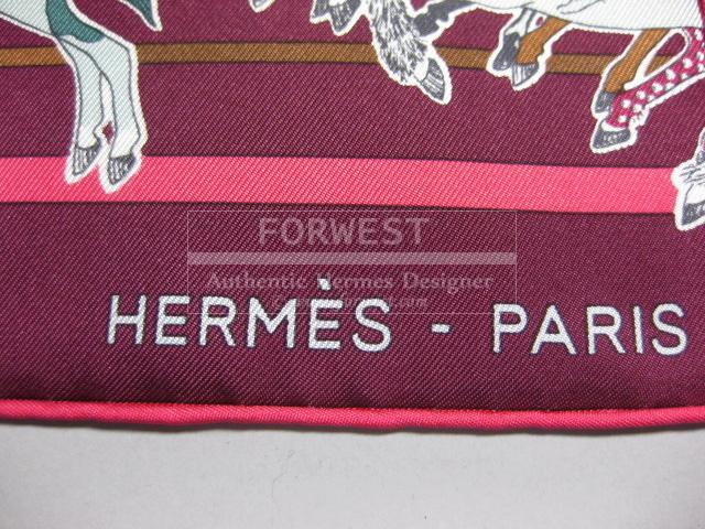 Authentic Hermes Carre En Carre Limited Edition Silk Scarf