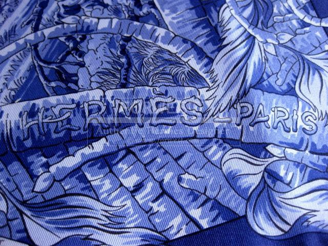 Authentic Hermes Carre Fantaisie Pittoresque Silk Scarf