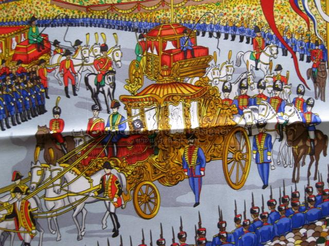 Authentic Hermes Carre Grand Cortege A Moscou Limited Edition Scarf