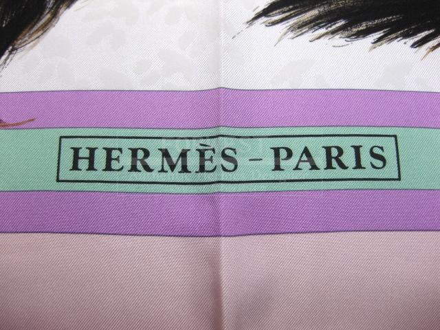 Authentic Hermes Carre Les Chats Silk Scarf