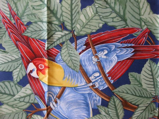 Authentic Hermes Carre Les Perroquets Silk Scarf