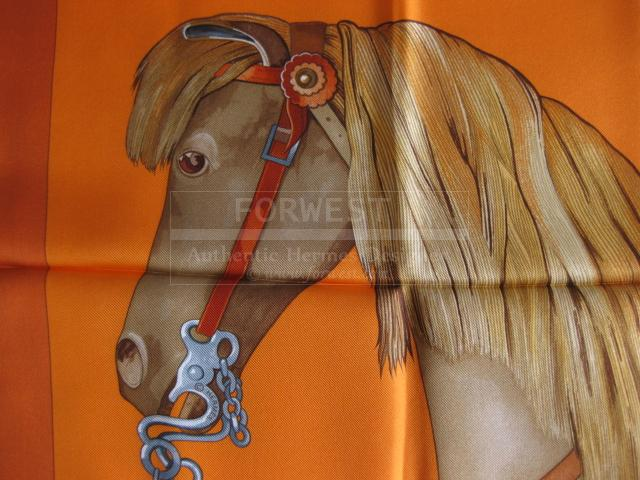 Authentic Hermes Carre Mon Petit Cheval Mexicain Silk Scarf