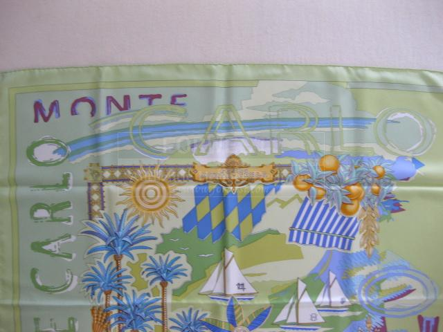 Authentic Hermes Carre Monte Carlo Silk Scarf