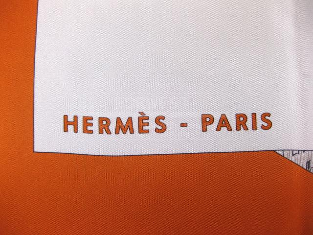 Authentic Hermes Carre Regarde Paris Silk Scarf