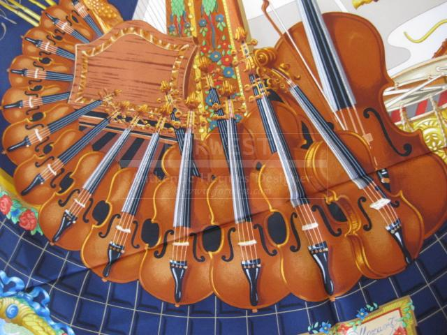 Authentic Hermes Carre Wolfgang Amadeus Mozart Silk Scarf