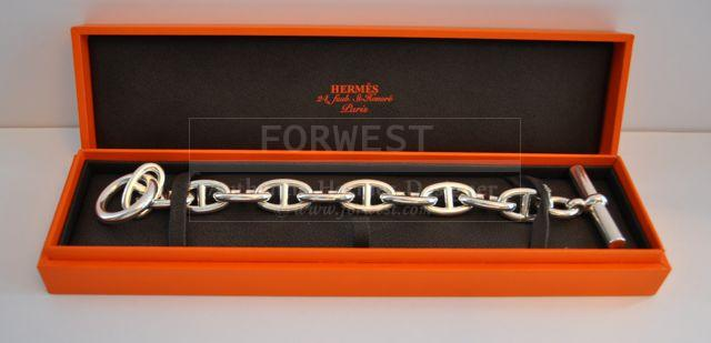 Authentic Hermes Chaine Dancre Bracelet 11 Links Small Toggle TGM