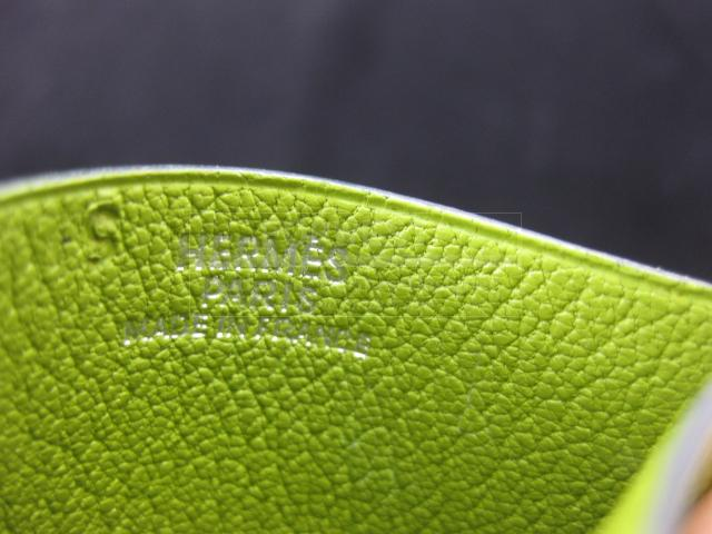 Authentic Hermes Chevre Mysore Sunglass Case Vert Anis