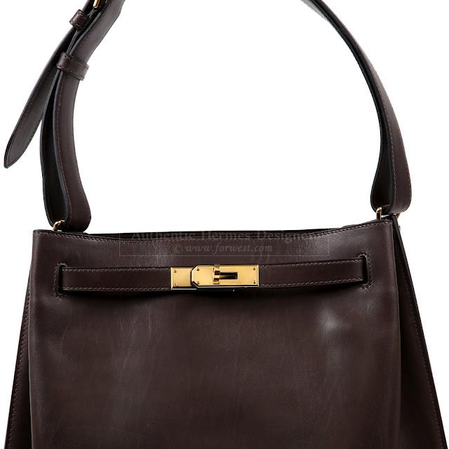 Authentic Hermes Chocolate Brown 26 Cm So Kelly