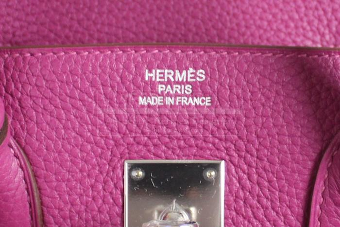 Authentic Hermes Clemence Tosca Birkin 35 Cm Bag New