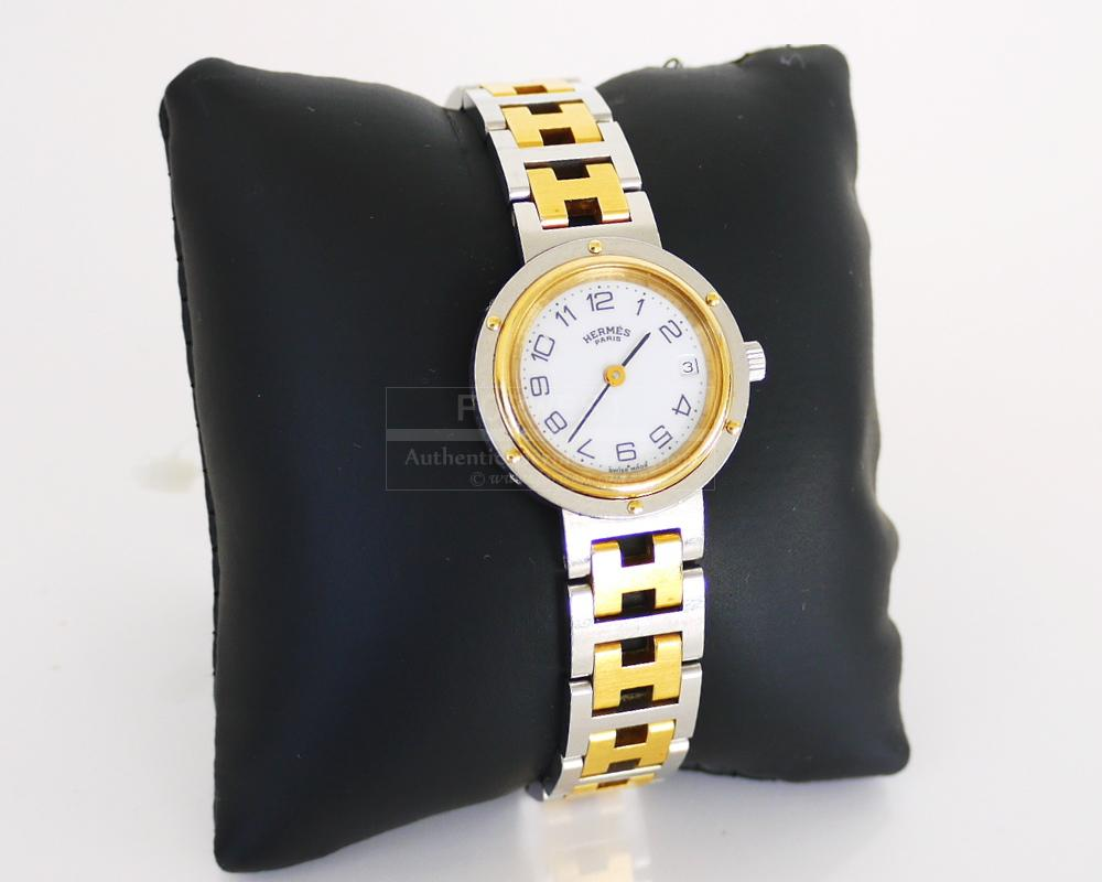 Authentic Hermes Clipper Female Date Watch Discontinued