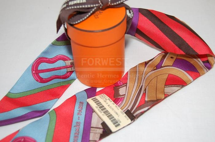 Authentic Hermes Coaching Twilly Scarf