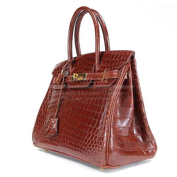 Authentic Hermes Cognac Crocodile 30 Cm Birkin