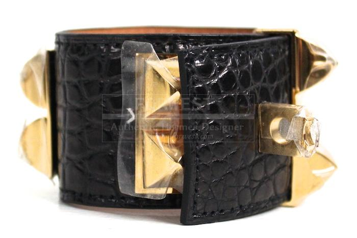 Authentic Hermes Collier De Chien Crocodile Matte Bracelet New